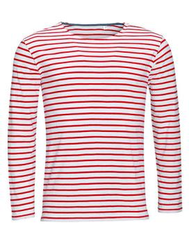 Men´s Long Sleeve Striped T-Shirt Marine