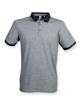 Mens Fashion Polo mit Jacquard-Kontrast