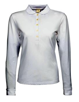 Ladies Luxury Stretch Long Sleeve Polo
